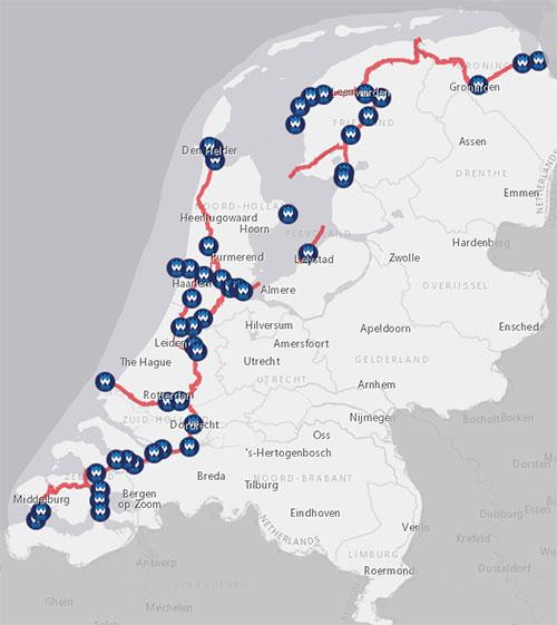 Staande Mast Route Traject Noord Nederland Varen Doe Je Samen